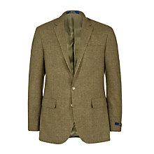 Buy Polo Ralph Lauren Micro Check Blazer, Olive Online at johnlewis.com