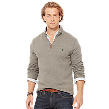 Buy Polo Ralph Lauren Zip-Up Cotton Jumper Online at johnlewis.com