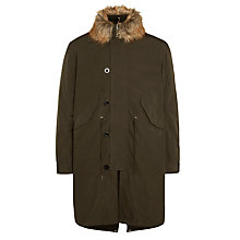 Buy Pretty Green Harewood Parka, Green Online at johnlewis.com