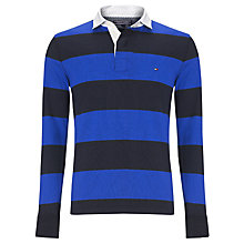 Buy Tommy Hilfiger Striped Rugby Polo Shirt Online at johnlewis.com
