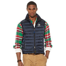 Buy Polo Ralph Lauren Elmwood Puffa Gilet, Navy Online at johnlewis.com