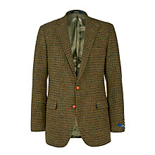 Buy Polo Ralph Lauren Bedford Checked Wool Blazer, Olive Online at johnlewis.com