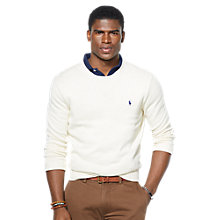 Buy Polo Ralph Lauren Cotton Classic Crew Neck Jumper Online at johnlewis.com
