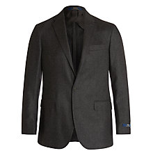Buy Polo Ralph Lauren Textured Wool Blazer, Charcoal Online at johnlewis.com