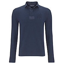 Buy Tommy Hilfiger Long Sleeve Polo Shirt, Blue Online at johnlewis.com