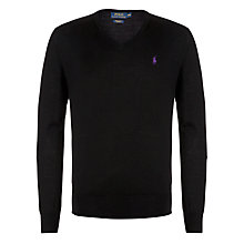 Buy Polo Ralph Lauren Merino V-Neck Jumper Online at johnlewis.com