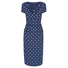 Buy Phase Eight Cap Sleeve Liv Spot Dress, Navy/Stone Online at johnlewis.com