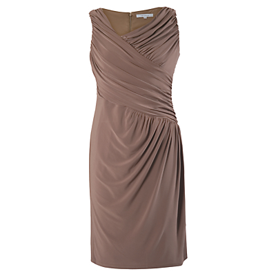 Chesca Ruched Dress, Coffee