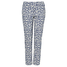 Buy Phase Eight Erica 7/8 Trousers, Ivory/Blue Online at johnlewis.com