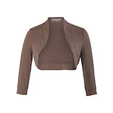 Buy Chesca Jersey Shrug, Coffee Online at johnlewis.com