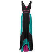 Buy Phase Eight Indiana Pleat Maxi Dress, Black/Multi Online at johnlewis.com