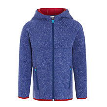 Buy John Lewis Boy Full Zip Bonded Hooded Fleece, Blue Online at johnlewis.com