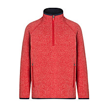 Buy John Lewis Boy Half Zip Bonded Fleece, Red Online at johnlewis.com