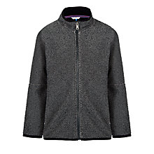 Buy John Lewis Boy Textured Borg Fleece, Grey Online at johnlewis.com