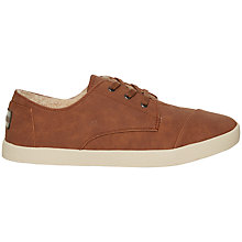 Buy TOMS Paseos Lace Up Plimsolls Online at johnlewis.com