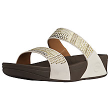 Buy FitFlop Aztek Chada™ Sandals, Urban White Online at johnlewis.com