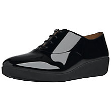 Buy FitFlop F-Pop Oxford Patent Leather Loafer Shoes, Black Online at johnlewis.com