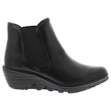 Buy Fly Phil Knee High Wedged Boots, Black Online at johnlewis.com