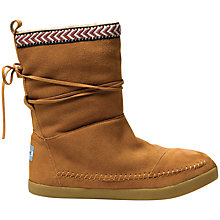 Buy TOMS Nepal Suede Trim Boots, Chestnut Online at johnlewis.com