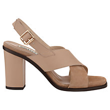 Buy Whistles Eva Cross Over Block Heel Leather Sandals, Nude Online at johnlewis.com