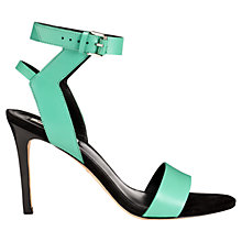 Buy Whistles Jade Sporty Leather Stilettos Sandals Online at johnlewis.com