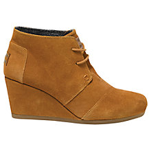 Buy TOMS Desert Suede Wedge Heeled Ankle Boots Online at johnlewis.com