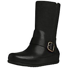 Buy FitFlop Dué Biker Boots, Black Online at johnlewis.com