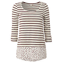 Buy White Stuff Alana T-Shirt, Dark Red Plum Online at johnlewis.com