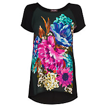 Buy Phase Eight Florrie Print Top, Black/Multi Online at johnlewis.com