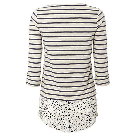 Buy White Stuff Alana Tee, Moonlight Online at johnlewis.com