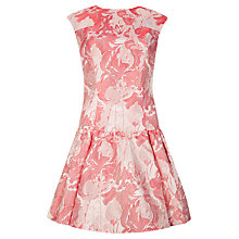 Buy Ted Baker Scherry Floral Dropped Waist Dress, Light Pink Online at johnlewis.com