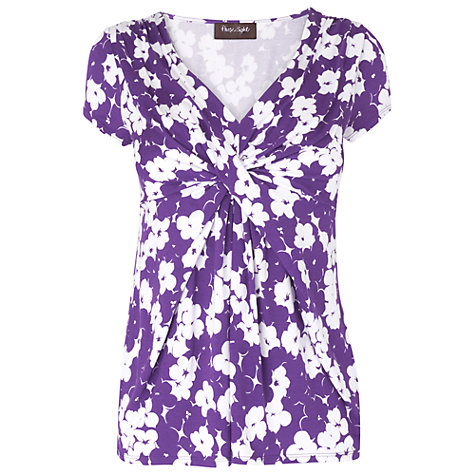 Buy Phase Eight Martinique Pansy Print Top, Purple Online at johnlewis.com