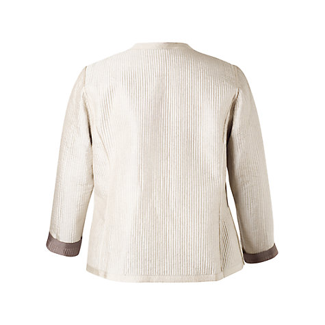 Buy Chesca Topstitched Reversible Jacket, Mocha/Vanilla Online at johnlewis.com