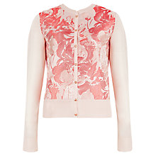 Buy Ted Baker Dorena Printed Cardigan, Light Pink Online at johnlewis.com