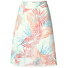 Buy Fat Face Claire Palm Leaf Skirt, Ivory Online at johnlewis.com