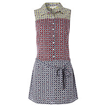Buy White Stuff Ammonite Mixed Print Tunic Dress, Light Moonlight Blue Online at johnlewis.com