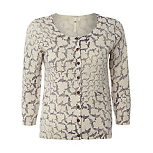 Buy White Stuff Block Bird Cardi, Almond White Online at johnlewis.com