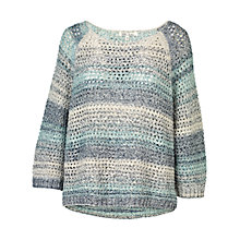 Buy Fat Face Ombre Pointelle Spray Jumper Online at johnlewis.com