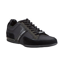 Buy BOSS Spacit Fabric Blend Trainers, Black Online at johnlewis.com