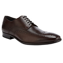 Buy BOSS Vipan Leather Brogue Shoes, Brown Online at johnlewis.com
