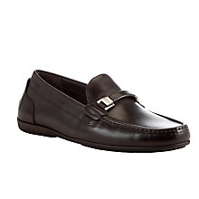 Buy BOSS Flario Driver Shoes, Dark Brown Online at johnlewis.com