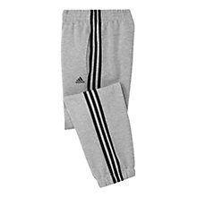Buy Adidas Essentials Three Stripes  Boys' Training Trousers Online at johnlewis.com