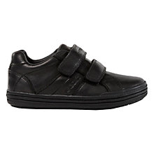 Buy Geox Elvis Leather Rip-Tape Shoes, Black Online at johnlewis.com