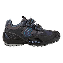 Buy Geox Savage Rip-tape Trainers, Navy Online at johnlewis.com
