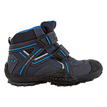 Buy Geox Waterproof Savage Rip-Tape Boots, Navy Online at johnlewis.com