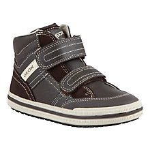 Buy Geox Elvis Leather Rip-Tape High-Top Trainers Online at johnlewis.com