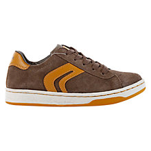 Buy Geox Mania Trainers, Brown Online at johnlewis.com