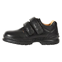 Buy Geox Jr William A Leather Shoes, Black Online at johnlewis.com