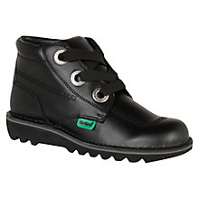 Buy Kickers Children's Kick Large It Boots, Black Online at johnlewis.com