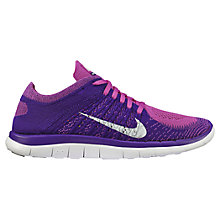 Buy Nike Free 4.0 Flyknit Women's Running Shoes, Pink Online at johnlewis.com
